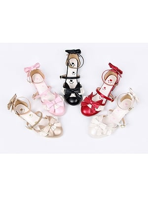 Cute Cat Footprint Pattern Low-Heeled Sandal