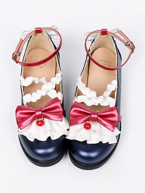 Snow White Sweet Lace Bow Princess Shoes