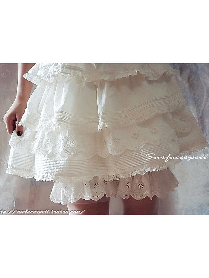 Summer Lace Tiered Short Bloomer by Surface Spell