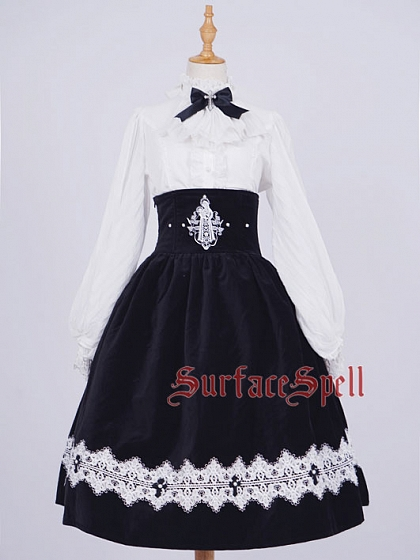 Custom Size Avaliable Lace-up Back High Waist SK by Surface Spell