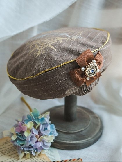 Unfinished Gold Plated Beret by Surface Spell