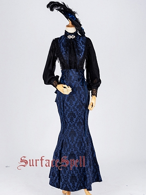 Knicks Victorian Style Jacquard Skirt by Surface Spell