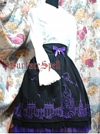 Custom Size Available Embroidered Church Bathing in Moonlight SK by Surface Spell
