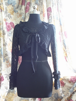 Custom Long Sleeve Lace Cape by Surface Spell