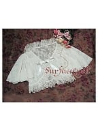 Short Lace Tie Fastening Cape by Surface Spell