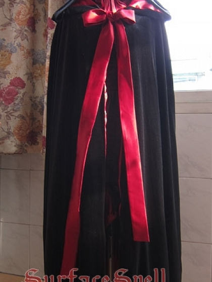 Custom Vampire Velvet Long Mantle by Surface Spell