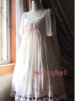 Custom Size Available Vanilla Ice Cream Empire Waist Chiffon JSK by Surface Spell