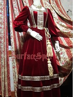 Custom Size Available Bishop Sleeve Velvet Gown by Surface Spell