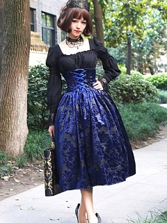 Custom Size Available High Waist and Wide Waistband Dark Pattern SK by Surface Spell