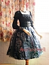 Custom Size Available Organza Overskirt Silver Stamping SK by Surface Spell