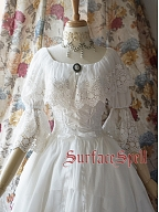 Custom Size Available Gorgeous Layered Lace Blouse by Surface Spell