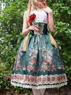 Custom Size Available Alps's Rose High Waist SK by Surface Spell