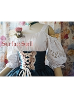 Custom Size Available Alps's Rose National Open-Shoulder Blouse by Surface Spell