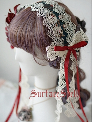 Alps's Rose Lace Headband by Surface Spell