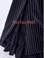 Custom Size Available High Waist Striped Mermaid Skirt by Surface Spell