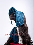 The Rosary Bow and Rose Decorated Adjustable Half Bonnet by Surface Spell