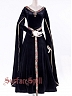 Custom Size Available Middle Age Style Velvet Dual Layers Long Gown by Surface Spell