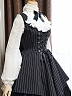 Custom Size Available Lace-up Striped Handsome JSK by Surface Spell