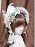 Brocade Panne Feather Bonnet by Surface Spell