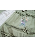 Waterfront of Blooming Thyme Embroidery Placket Elasticized Waist SK by Surface Spell