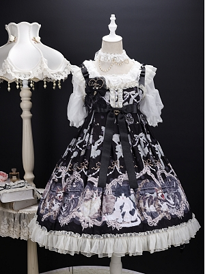 Four Cats Lolita Dress JSK by Star Cat Lolita