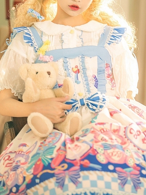 Rabbit Bobo Sweet Lolita Dress Matching Shirt by Strawberry Pineapple