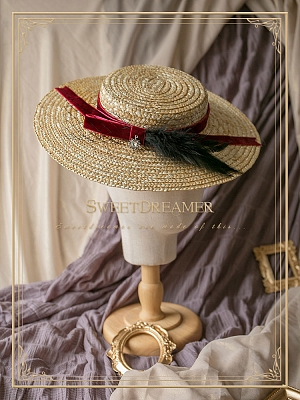 The Straw Vintage Elegant Lady Photo Privacy Hat by SweetDreamer
