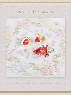Limit HandMade Food To Strawberry and Cream Hairclip by SweetDreamer