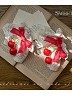 Shepherd's Creek Picnic Cherry Strawberry Berry Ornament Set 2 by SweetDreamer