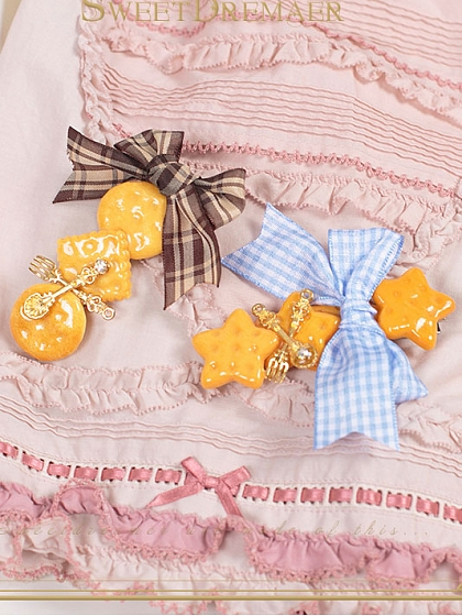 Imitation Food Honey Cookie Hairclips by SweetDreamer