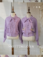 Homemade Hand-made Pearl Ice Silk Sun Protection Air conditioning  Cardigan Blouse by SweetDreamer