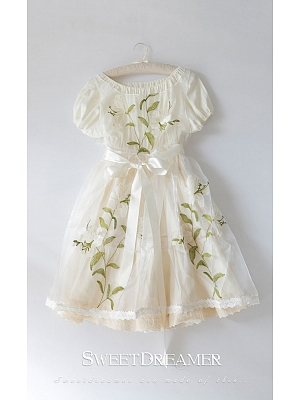 Dream of Lily Organza Embroidery Overdress and OP by SweetDreamer