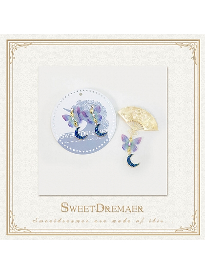 Month of Beauty Butterfly Hairclip and Earclips by SweetDreamer