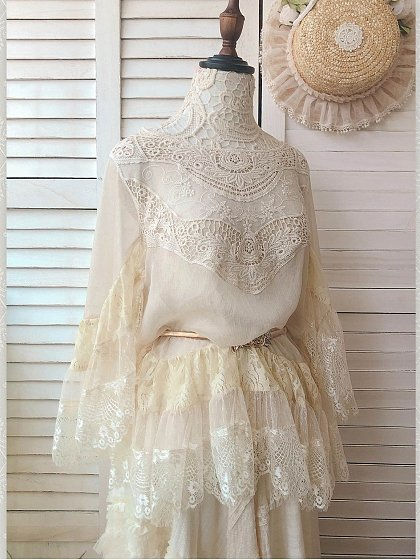 Falling Feather Lace Blouse by SweetDreamer