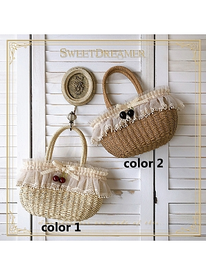 Flounce Straw Hand Bag by SweetDreamer