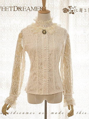 Lace Covered Ivory Blouse by Sweet Dreamer