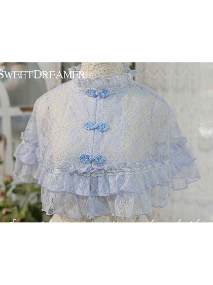 Chinese Frog Fastening Lace Cape by Sweet Dreamer