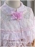 Chinese Faux Pearls Fastening Fastening Lace Cape by Sweet Dreamer
