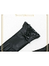 Leather Gauze Trimmed Gloves