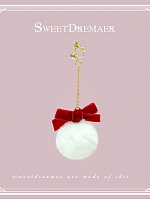Imitated Fur Ball Pendant Single Ear Clip By Sweet Dreamer