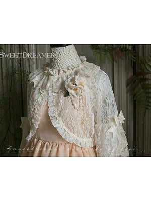 Trumpet Bracelet Sleeve Lace Cardigan by Sweet Dreamer