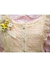 Beige Front Button Down Paillette Lace Overdress or Apron by Sweet Dreamer