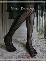 Retro Stripe Hollow Out Pantyhose By Sweet Dreamer