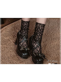 Retro Hollow Out Lace Socks By Sweet Dreamer