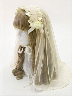 Crucifix Lace Hairband With Veil By Sweet Dreamer