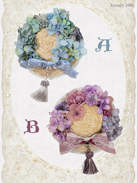 Bouquet Straw Hairclip by Sweet Dreamer