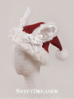 Christmas Bunny Quality Woollen Cute Christmas hat by Sweet Dreamer