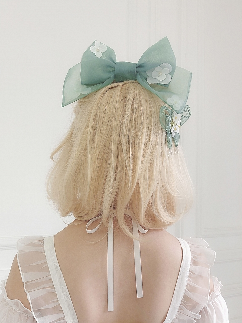 Flower Picture Book Series Bowknot Hairclip by Sweet Fragrant