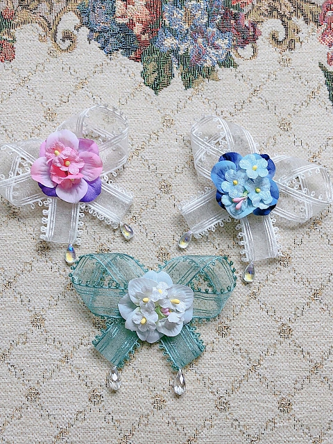 Flower Picture Book Series Dual-purpose Bowknot Clip by Sweet Fragrant