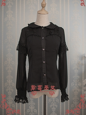 Alice in Wonderland Chiffon Blouse by Strawberry Witch